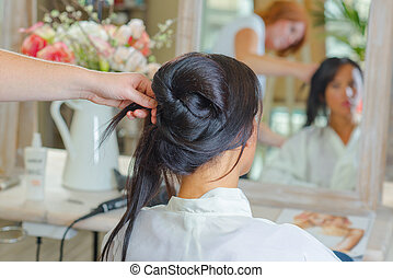 creative hairdo