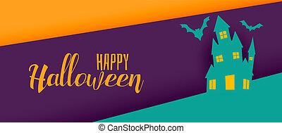 creative halloween holiday banner design