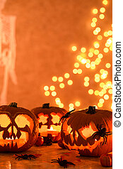 Creative Halloween Jack-o-lanterns and pumpkins