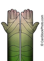 creative hand illustration