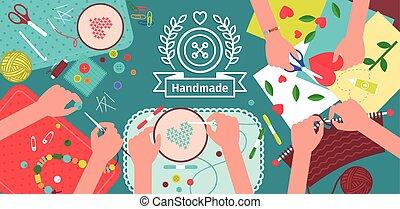 Creative handmade workshop banner