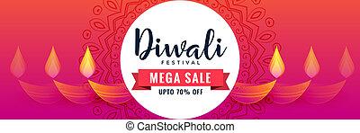 creative happy diwali sale banner design