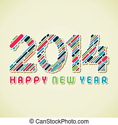 creative happy new year 2014