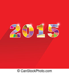 Creative happy new year 2015 text Design. Vector ...