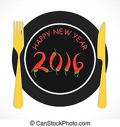 creative happy new year 2016 design