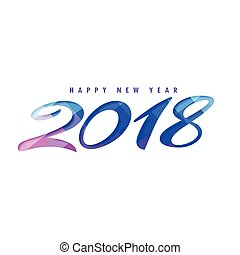 creative happy new year 2018 design