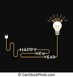 creative happy new year 2018 poster design by idea