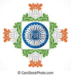 creative happy republic day