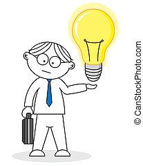Creative having an idea