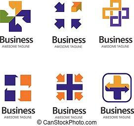 creative health logo set