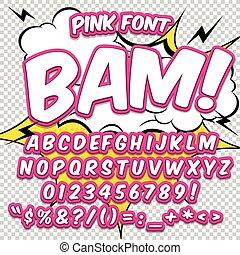 reative high detail comic font. Alphabet in the style of ...