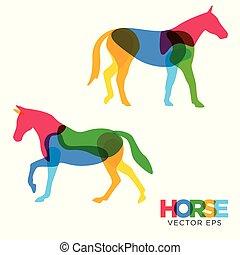 Creative Horse Animal Design, Vector eps 10