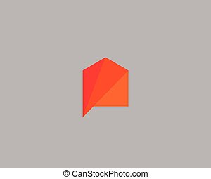 Creative house logo design template. Color vector icon sign logotype