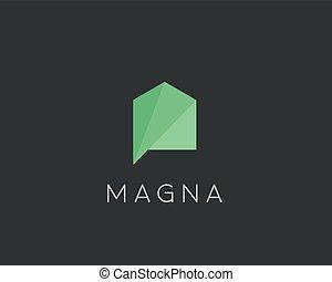 Creative house logo design template. Color vector icon sign logotype