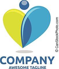 creative Human heart colorful logo