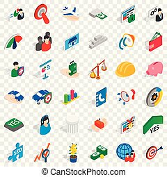 Creative icons set, isometric style