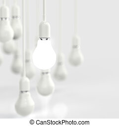 creative idea and leadership concept light bulb