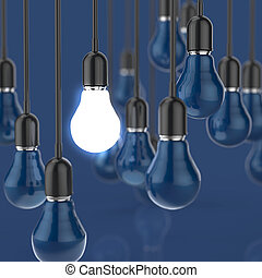 creative idea and leadership concept