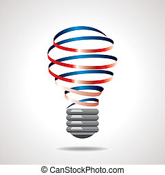 creative idea bulb vector