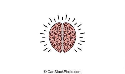 creative idea concept - human brain think idea solution ...