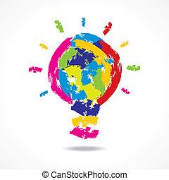 creative idea concept with bulb