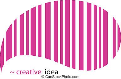 Creative idea - Creative EAN pictogram. Vector Illustration....