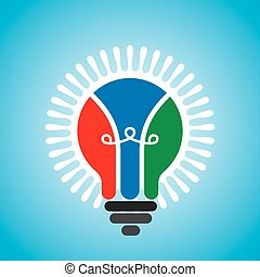 creative idea light bulb