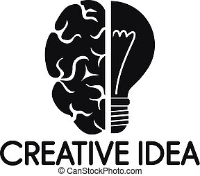 Creative idea mind logo, simple style