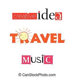 creative idea travel music vector illustration