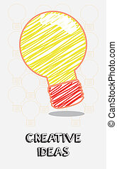creative Ideas - creative ideas design over white background...