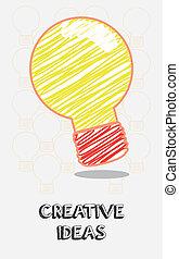 creative Ideas - creative ideas design over white background...