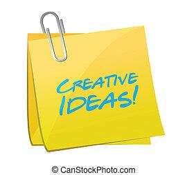 creative ideas post illustration design over a white ...
