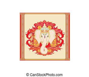 Creative illustration of Hindu Lord Ganesha