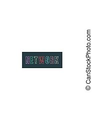 Creative illustration of network word lettering.