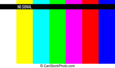No signal test tv screen card old tv Illustrations and Stock Art  20