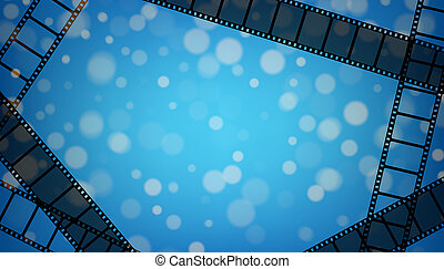 Creative illustration of old retro film strip frame set isolated on background. Art design reel cinema filmstrip template. Abstract concept graphic element