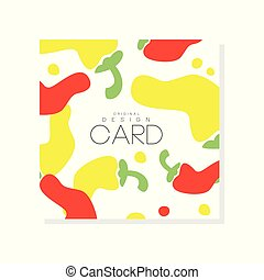 Creative illustration with abstract hot red and yellow pepper. Organic vegetable concept. Vector design for grocery store, product label or farmer market