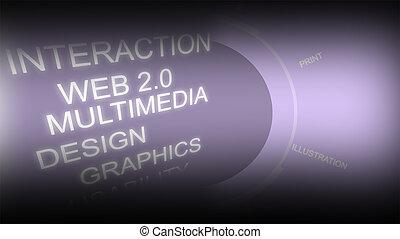 Creative image of computing concept