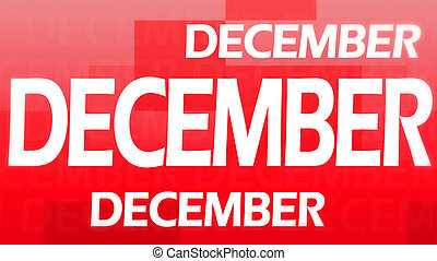 Creative image of December concept