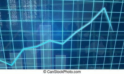 Creative image of economic growth concept