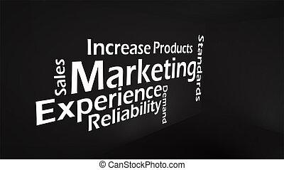Creative image of marketing concept