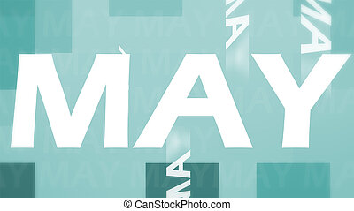 Creative image of May concept