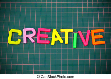 Creative in colorful toy letters oncutting mate