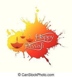 indian festival diwali greeting design