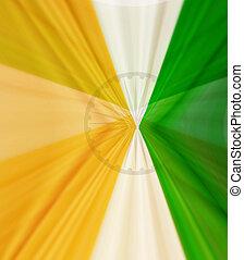 creative indian flag swirl texture wave vector design