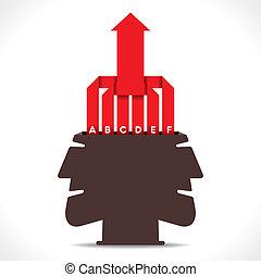 creative info-graphics arrow