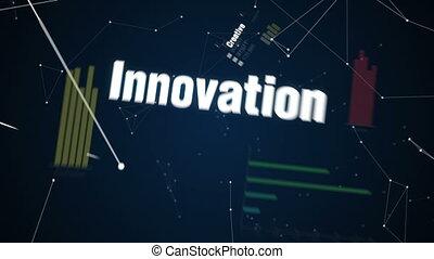 text animation 'FUTURE' - Creative, Innovation, Intelligence...