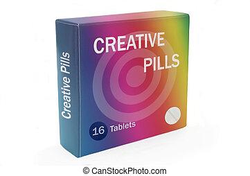 Creative inspiration concept.