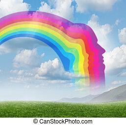 Creative Inspiration - Creative inspiration with a rainbow...