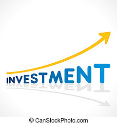 creative investment word growth graph vector